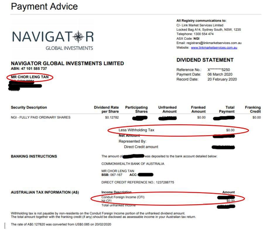 navigatar payment advice