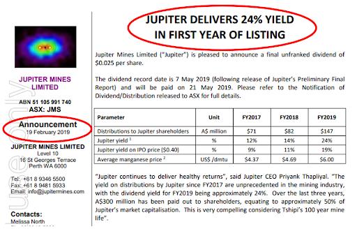 Jupiter deliver 24%